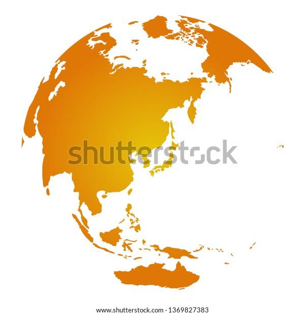 East Orange Focus >> Global Image Illustration Focus On East Stock Vector