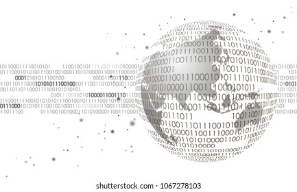 Global international connection information data exchange. Planet space modern future technology finance banking design.Binary code web security payment business vector illustration