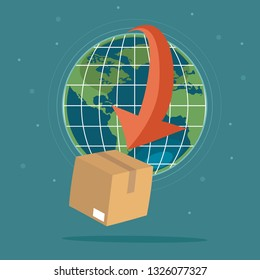 Global logistics concept, deliver through the word