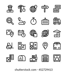 Global Logistics Vector Icons 4