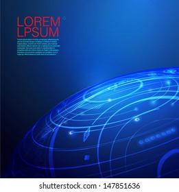 Global mesh network digital and technology, Vector eps10