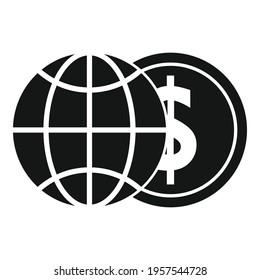 Global money broker icon. Simple illustration of Global money broker vector icon for web design isolated on white background