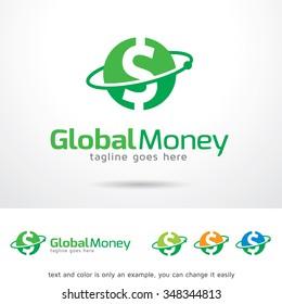 Global Money Logo Template Design Vector