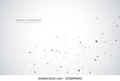 Global network connection. Abstract geometric background with connecting dots and lines. Digital technology and communication concept