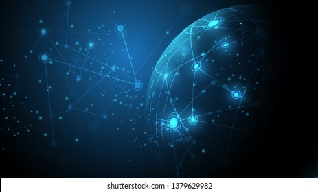Global network connection abstract technology background global business innovation concept\n