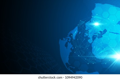 global network connection cyberspace design concept background eps 10 vector