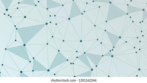 Global network connection digital grid. Interlinked nodes, molecular or social media, web structure concept. Network nodes information technology concept.