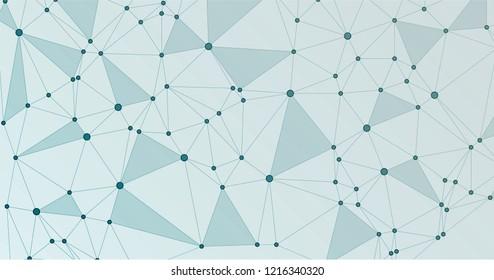 Global network connection digital grid. Interlinked nodes, neuron or big data cloud structure concept. Information technology concept cover.