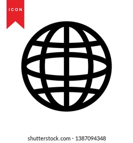 Global network connection. world map, Internet Icon - Premium Vector