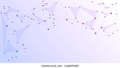 Global network connections with points and lines. Interlinked nodes concept. Scientific presentation background with network nodes. Social media or web structure with connected points.