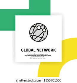 Global Network Icon Concept
