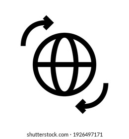 global network icon or logo isolated sign symbol vector illustration - high quality black style vector icons
