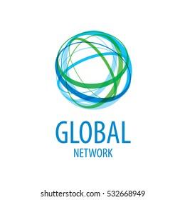 global network logo vector
