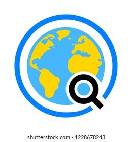 Global search sign icon. World globe symbol