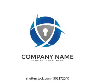 Global Security Logo Design Template
