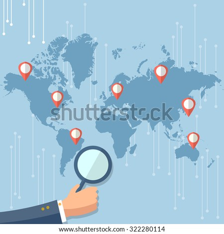 Study World Map.Global Technology Concept World Map Infographics Stock Vector