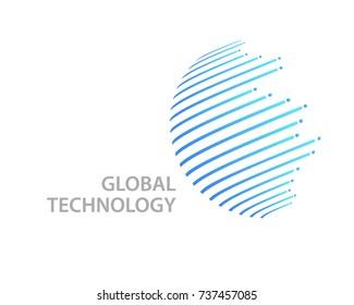 Global Technology logo template design