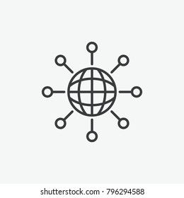 Global Technology Network Vector Icon