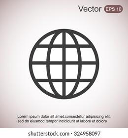 Global vector icon