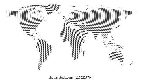 simple world map outline