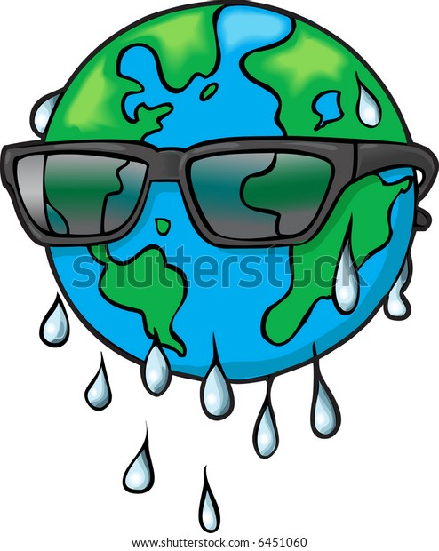 Global Warming; the Earth in Sunglasses.