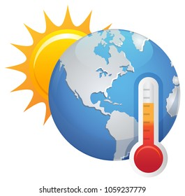Global Warming Icon as EPS 10 File