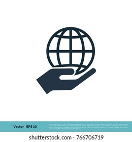 Global Warming, Save the Planet Icon Vector Logo Template Illustration Design. Vector EPS 10.