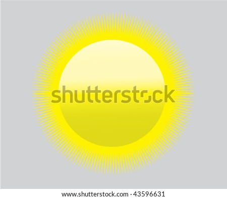 Global Warming Sun Icon Symbol Heat Stock Vector Royalty Free