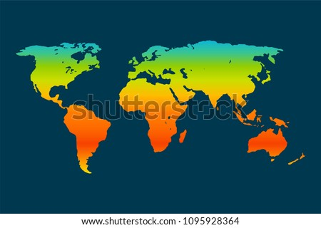Global Warming Concept Map.Global Warming Vector Concept Global Climate Stock Vector Royalty