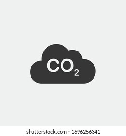 global warming vector icon carbon dioxide in the atmosphere