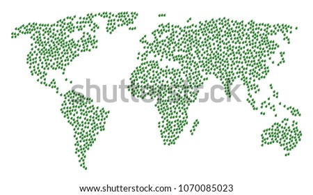 Global World Concept Map Organized Plant Stock Vector Royalty Free