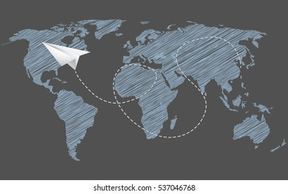 Globalization and Airline Concept Illustration