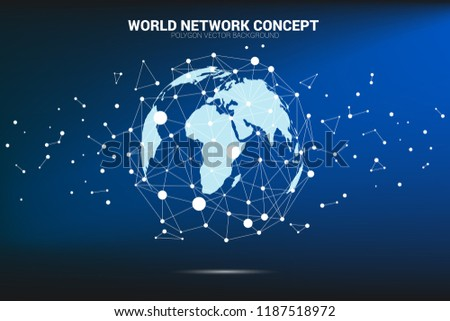Globe 3 D World Map Wireframe Dot Stock Vector Royalty Free