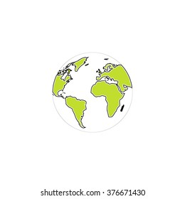 Globe earth Icon Vector.