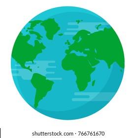 Globe earth isolated background vector illustration