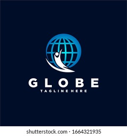 Globe Earth Logo Design Template