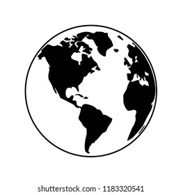 Globe earth map icon vector illustrator