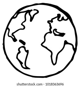 Globe. Earth. Planet Earth. Vector illustration.