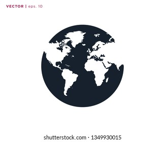 Globe Earth Vector Design Template