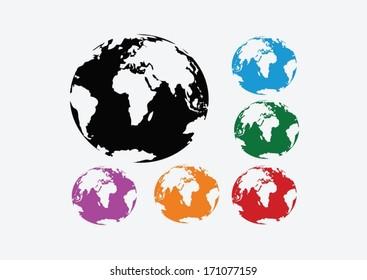 Globe earth vector icons  idea design
