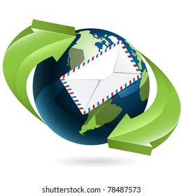 Globe and envelope