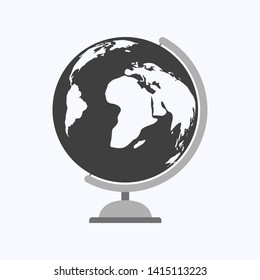 Globe flat design style on white background, vector illustration