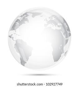 Globe glass isolated on white