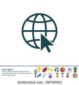 Globe (go to web) icon. Vector design