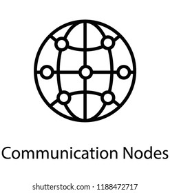 A globe having communication nodes and making ip networking