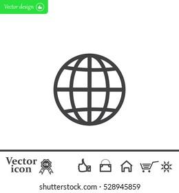 The globe icon. Flat Vector illustration