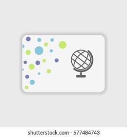 Globe icon illustration isolated vector sign symbol