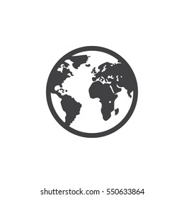 globe icon on the white background
