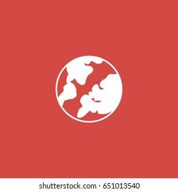 globe icon. sign design. red background