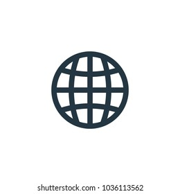 Globe icon. Simple element illustration. Globe symbol design template. Can be used for web and mobile UI.